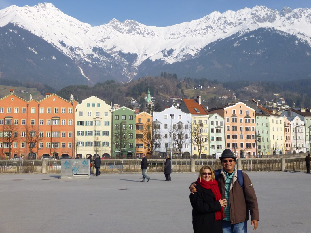 Inesquecível as montanhas congeladas de Innsbrusk