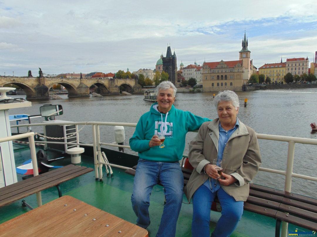 Navegando el Moldava,en Praga